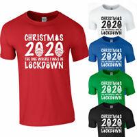 CHRISTMAS LOCKDOWN 2020 TSHIRT Tee Top Unisex Funny Xmas Gift Quarantine Present