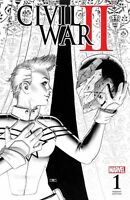 CIVIL WAR II #1 Marvel JOHN CASSADAY FAN EXPO B&W Sketch VARIANT NM