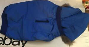 Snooty Dog Coat Spring Blue Parker Fur Lined Hood Poly Lining #996C 14-17 inch