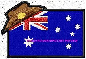 AUSTRALIAN DIGGER FLAG  ......... MILITARY BIKER PATCH