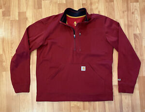 Carhartt Jacket Force Extremes 1/4 Zip Relaxed Fit Men's Size Large - Red