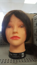 "Cosmetology Diane GWEN Manikin Mannequin 18""- 22"" BROWN HAIR HEAD 100% HUMAN"