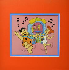 FLINTSTONES - FRED & WILMA DANCING Print Professionally Matted HB