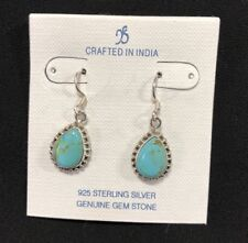 YS - Made in India Sterling Silver Copper Infused Blue Turquoise Earrings-NEW