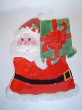 "Fitz & Floyd ""Holiday Sweet Holiday"" 2009 Santa Claus Canape Plate"