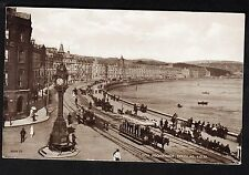 View of Horse Drawn Tram's, Loch Promenade, Douglas. Stamp/Postmark - 1928