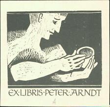 Peter Arndt. Ex-Libris. Helmut Arndt.  Braunschweig.  Bookplate QC.718