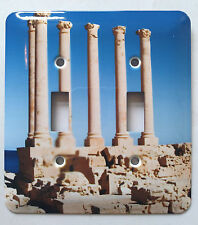 Ancient Rome Stone Pillars double light switch plate cover New