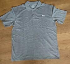 Mens slazenger Size L Golf grey check polo shirt BNWOT