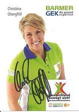 Autogramm Christina Henry-Obergföll Speerwurf Silber Olympia Weltmeisterin GEK