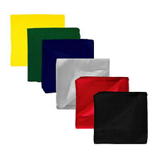 Pack of 132 Solid 100% Cotton Bandanas - Bulk Lot