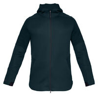 Under Armour Unstoppable MOVE Fleece Full Zip Mens Hoodie Jacket Green - L