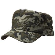 Camo Tactical Baseball Cap Bucket Hat Peak Flat Trilby Military Army Retro Hats