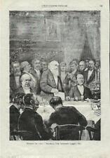 Stampa antica AGOSTINO DEPRETIS Discorso di STRADELLA 1882 Old antique print