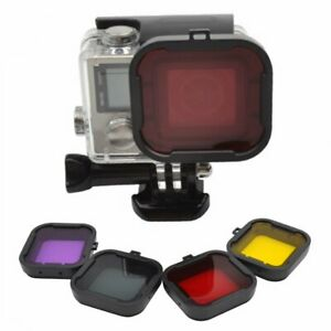 4pcs Yellow Red Purple Grey Underwater Diving Filter for GoPro Hero 4 3+ New