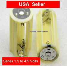 1 SERIES - Battery Adapter - Converts 3 AA Cells to 1 D size - outputs 4.5V  USA