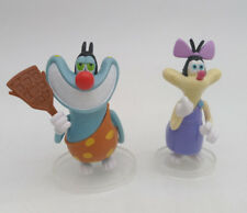 Set of 2 Figure Oggy and the Cockroaches toy dolls oggy olivia collection
