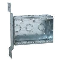 "RACO 686 Multi-Device 3-Gang Switch Box, Welded with Conduit KO's, 2-1/2"" Deep"