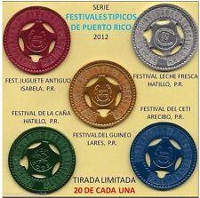 Set 5 FESTIVAL TIPICO PUERTO RICO Arecibo Hatillo Isabela Lares LUCKY PENNY 1/25