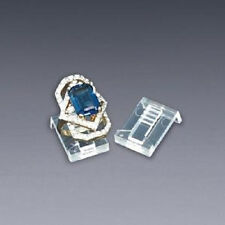 NEW 100 PLASTIC RING CLIP DISPLAYS SHOWCASE RING DISPLAY