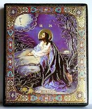 Icon of Jesus praying in the Garden wood икона моление иисуса о чаше 10x12x2 cm