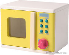 BRAND NEW WOODEN TOY MICROWAVE OVEN KITCHEN FOOD PRETEND, IMAGINATIVE, ROLE PLAY