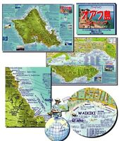 Oahu Hawaii Japanese Guide Map by Franko Maps