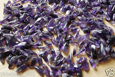 100 Natural Lot of Tiny Clear Amethyst Quartz Crystal Rock Chips 50g