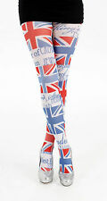 Pamela Mann Capital Flag Printed Tights - Red, White & Blue  8 -14 @ Bettyboob