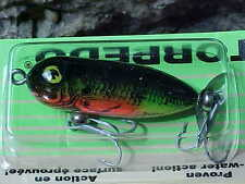 "Heddon 1 7/8"" TINY TORPEDO 1/4oz Topwater X0360LC a Fly or Lite Casting Lure"