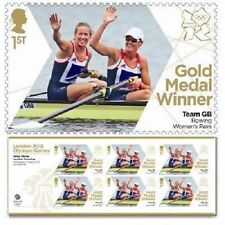 GB Olympic Gold Medal Glover Stanning Rowing miniature sheet MNH 2012
