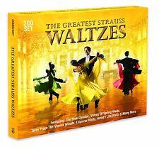 THE GREATEST STRAUSS WALTZES - 2 CD BOX SET - EMPEROR WALTZ & MORE