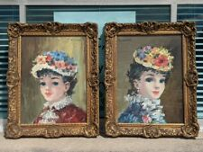 """Mid-20th C. French School Oil Paintings, M. Laurin, Signed 11.5"""" x 14.5"""" Framed"""