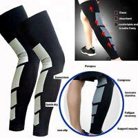 Compression Calf Sleeve Socks Thigh High Knee Brace Support Stocking Men Women