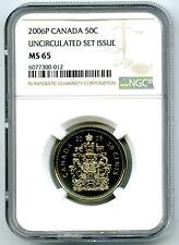 2006 P CANADA 50 CENT HALF DOLLAR NGC MS65 UNCIRCULATED RARE MINTAGE 98,000