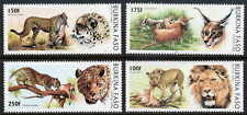 BURKINA FASO 1996 WILD CATS - MINT COMPLETE SET OF FOUR STAMPS