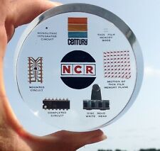 Lucite 1968 National Cash Register Ncr Computer Tech Paperweight w Rod Memory