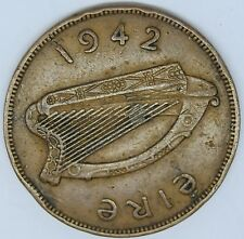 Ireland 1942 chick-less penny strange error see pictures