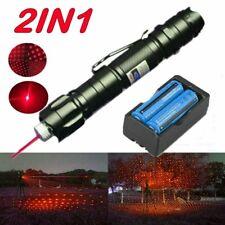 Visible Red Laser Pointer Pen 650nm Lazer Star Cap Light Beam + 18650 Battery