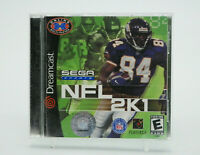 NFL 2K1 Sega Dreamcast Game Complete Tested Free Shipping