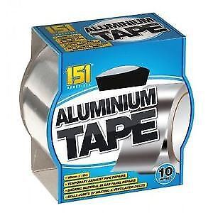 10m Aluminium Foil Tape Reflective Duct Self Adhesive Roll Heat Insulation 48mm