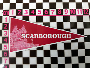 Scarborough Holiday Sticker -1960's Style Classic Caravan Camper - 100's in shop