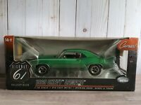 Highway 61 1969 Chevy Camaro SS 396 '69 1:18 Scale Diecast Model Car Rally Green