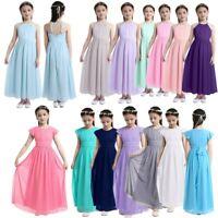 Flower Girl Dress Princess Party Long Dress Wedding Pageant Birthday Sequin Maxi