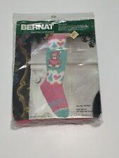 "Vintage Bernat ""Baby Bear"" Knitted 19"" Christmas Stocking"