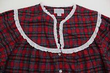 Lanz of Salzburg Flannel Nightgown Red Plaid Print 100% Cotton Medium New #TO18