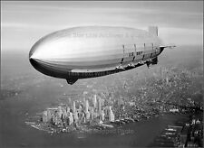 Poster Print: Hi-Res View: Airship USS Macon Off Lower Manhatten, 1933