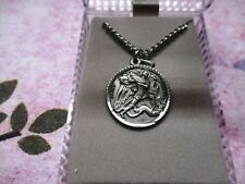 """Pewter - Saint Michael's Medal - 15/16"""" medal on 24"""" chain"""