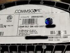 Commscope CS44R Cat6A U/UTP Network Ethernet 10G 10Gig Cable Riser Blue /100ft