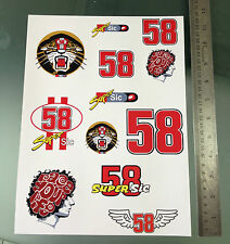 Marco Simoncelli Stickers - Large Decal Sticker kit (A4 Size Sheet)